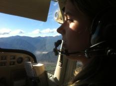 Jenna Johannsen flying Penticton FC C172