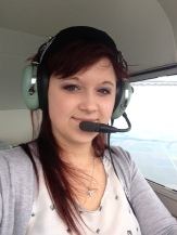 Karolina Utko flying C-FLUG to Thunder Bay